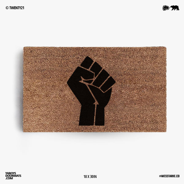 Black Lives Matter Fist Doormat