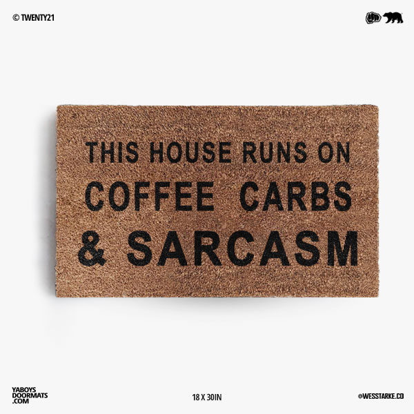 Coffee and Carbs Doormat