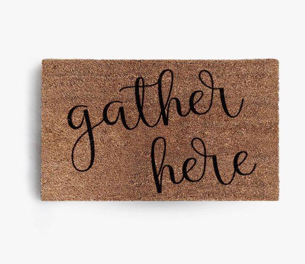 Gather Here Doormat