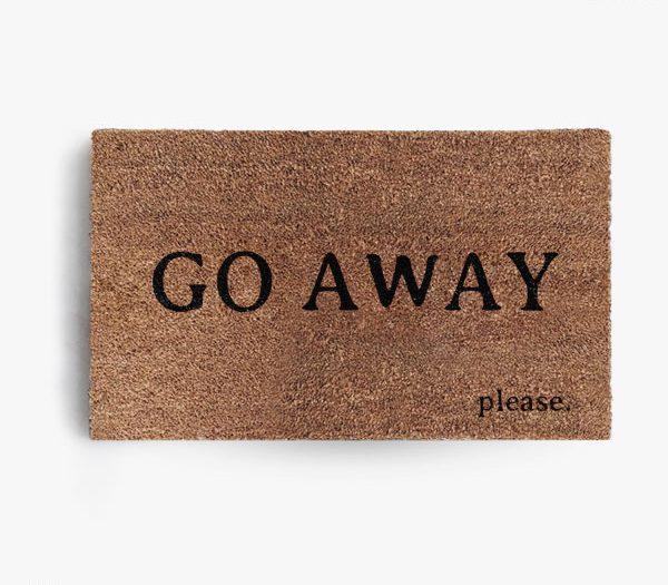Go Away Please Doormat