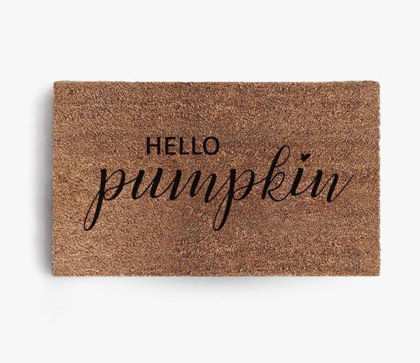 Hello Pumpkin Doormat