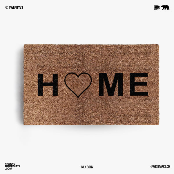 Home Heart Doormat