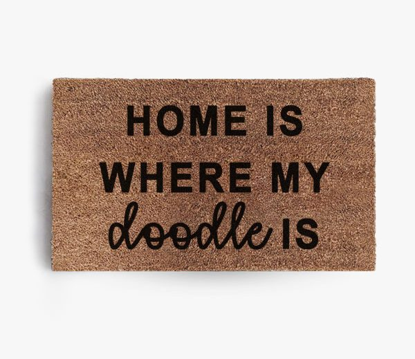 Home Is Where The Doodle Is Doormat