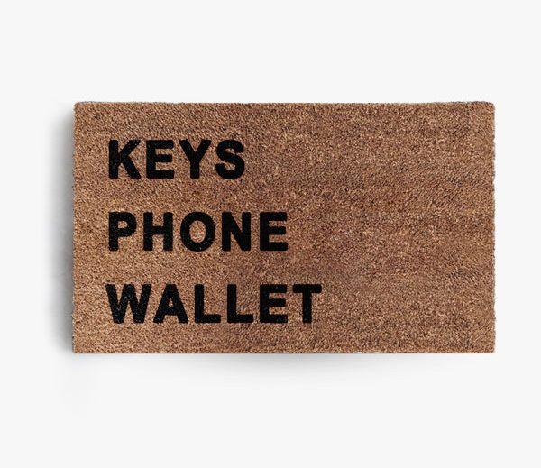 Keys Phone Wallet Doormat