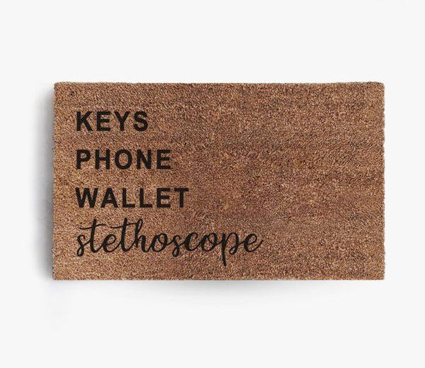 Keys Phone Wallet Stethoscope Doormat