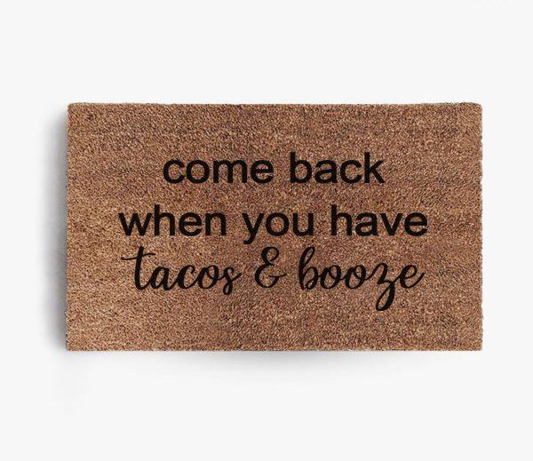 Tacos and Booze Doormat