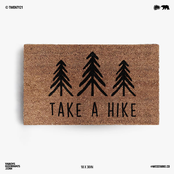 Take A Hike Doormat