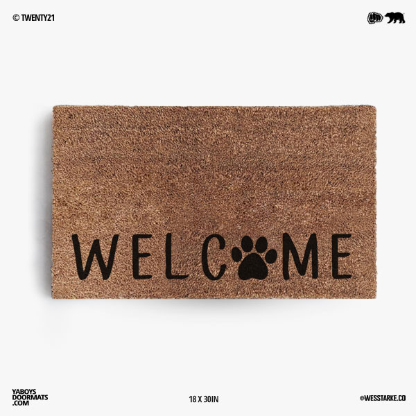 Welcome Paw Doormat