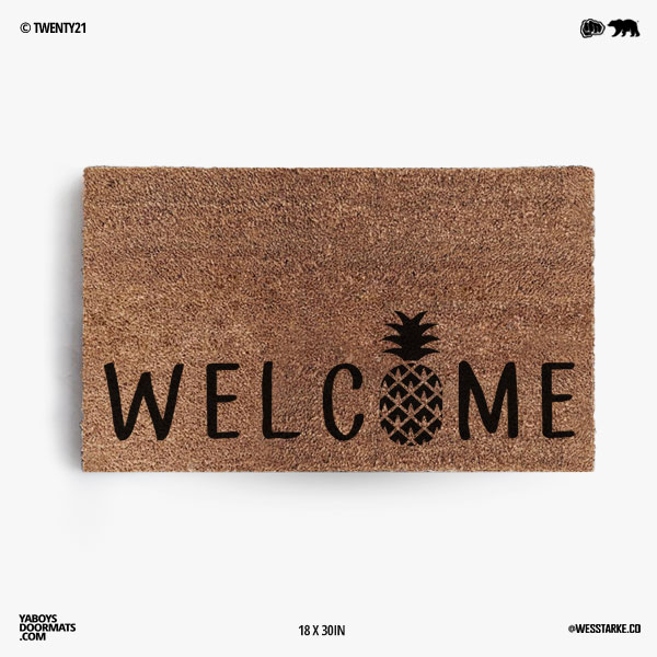 Welcome Pineapple Doormat