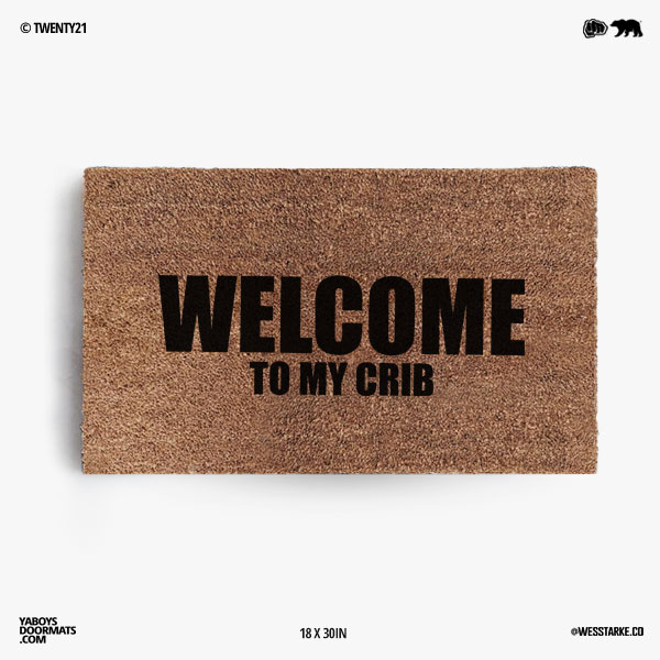 Welcome to my Crib Doormat