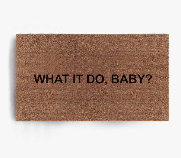 What It Do Baby Doormat