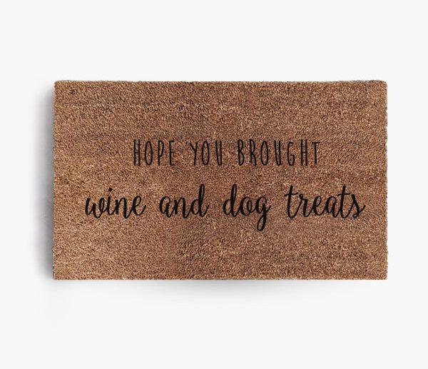 Wine and Dog Treats Doormat