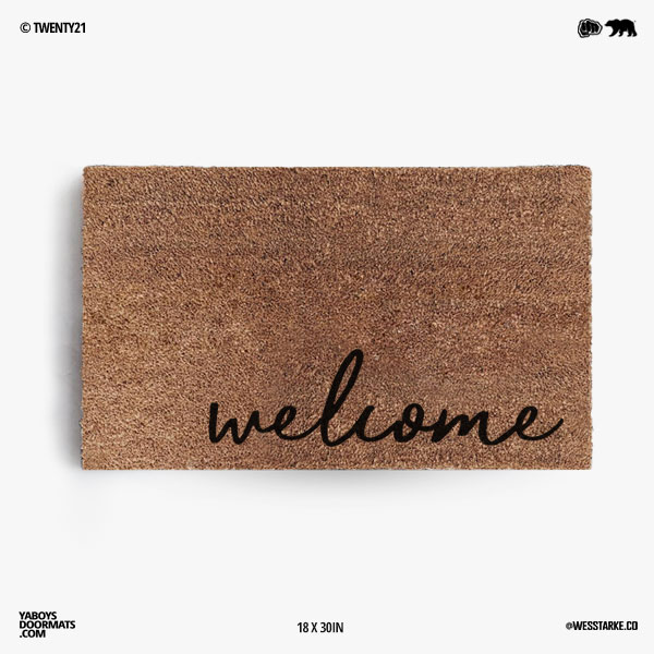 Welcome (Cursive) Doormat